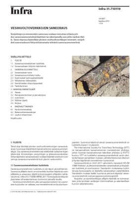 Infra 31-710119, Vesihuoltoverkkojen saneeraus