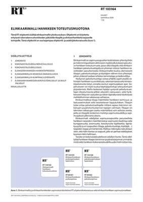 RT 103164, Elinkaarimalli hankkeen toteutusmuotona