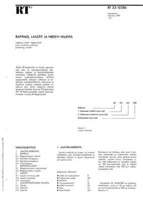 RT 33-10386, Rappaus, laastit ja niiden valinta