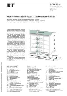 RT 18-10813, Asuntoyhtiön vesijohtojen ja viemäreiden uusiminen