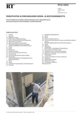 RT 83-10955, Perustusten ja perusmuurien veden- ja kosteudeneristys