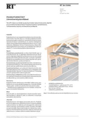 RT 36-11090, Puukuitueristeet. Lämmöneristystarvikkeet