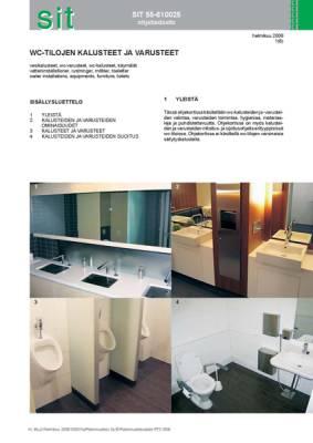 SIT 55-610025, WC-tilojen varusteet