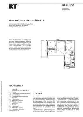 RT 52-10797, Vesikiertoinen patterilämmitys