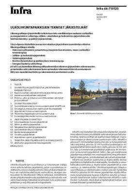 Infra 66-710123, Ulkoliikuntapaikkojen tekniset järjestelmät