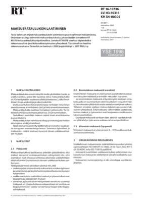 RT 16-10736, Maksuerätaulukon laatiminen. (YSE 1998 asiakirjamalli)
