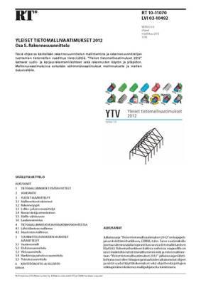 RT 10-11070, Yleiset tietomallivaatimukset 2012. Osa 5. Rakennesuunnittelu (Versio 1.0, 2012)