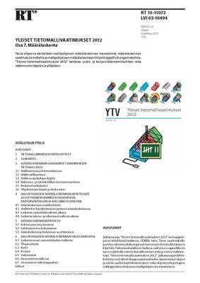 RT 10-11072, Yleiset tietomallivaatimukset 2012. Osa 7. Määrälaskenta (Versio 1.0, 2012)