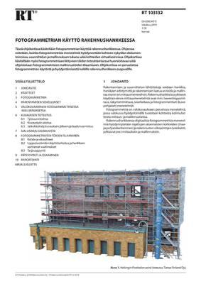 RT 103132, Fotogrammetrian käyttö rakennushankkeessa