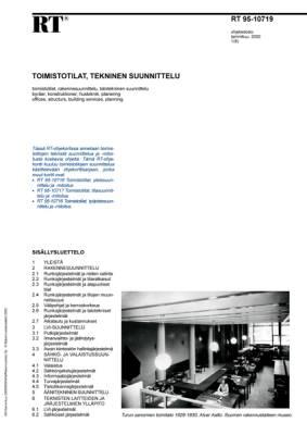 RT 95-10719, Toimistotilat, tekninen suunnittelu