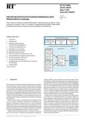 RT 10-11082, Projektinjohtototeutuksen riskienhallinta. Riskienhallinnan työkaluja