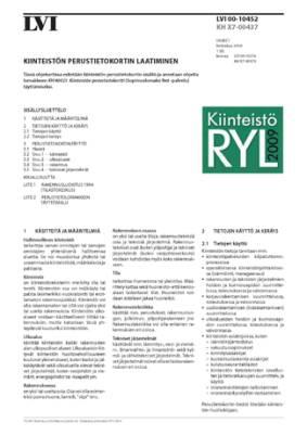 LVI 00-10452, Kiinteistön perustietokortin laatiminen