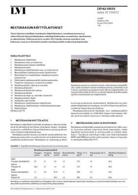 LVI 62-10533, Nestekaasun käyttölaitokset