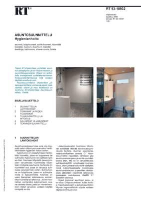 RT 93-10932, Asuntosuunnittelu. Hygienianhoito