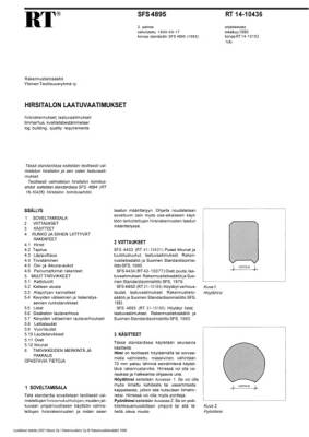 RT 14-10436, Hirsitalon laatuvaatimukset