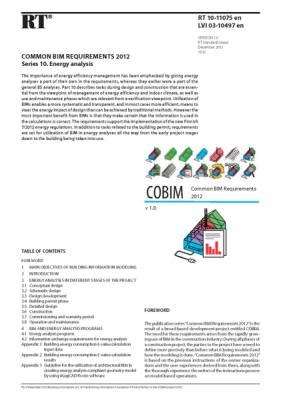 RT 10-11075 en, Common BIM Requirements 2012. Series 10. Energy analysis (Version 1.0, 2012)