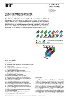 RT 10-11078 en, Common BIM Requirements 2012. Series 13. Use of models in construction (Version 1.0, 2012)