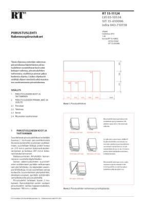 RT 15-11124, Piirustuslehti. Rakennuspiirustukset
