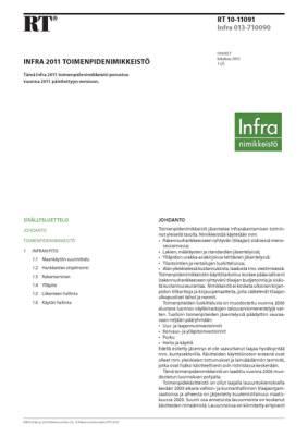 RT 10-11091, Infra 2011 Toimenpidenimikkeistö