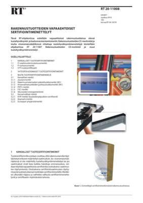 RT 20-11008, Rakennustuotteiden vapaaehtoiset sertifiointimenettelyt