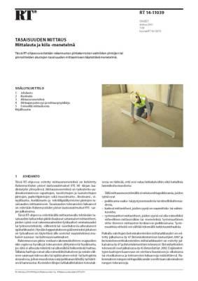 RT 14-11039, Tasaisuuden mittaus. Mittalauta ja kiila -menetelmä