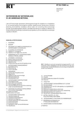 RT 92-11083 sv, Skyddsrum av skyddsklass S1 av armerad betong