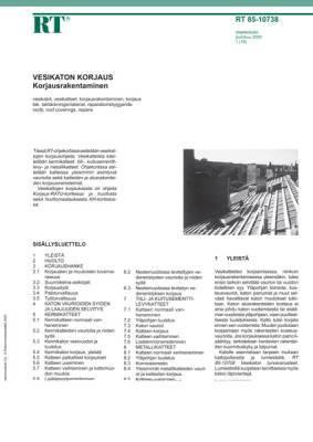 RT 85-10738, Vesikaton korjaus. Korjausrakentaminen