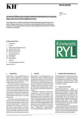 KH X4-00439, Kiinteistöpalveluiden hankintaprosessin kulku. Operatiivinen kiinteistöjohtaminen