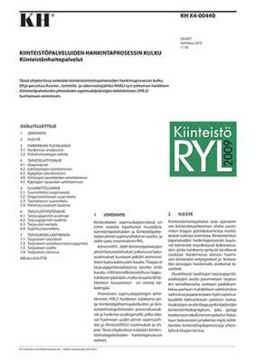 KH X4-00440, Kiinteistöpalveluiden hankintaprosessin kulku. Kiinteistönhoitopalvelut