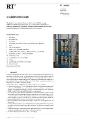 RT 103251, Hissin modernisointi