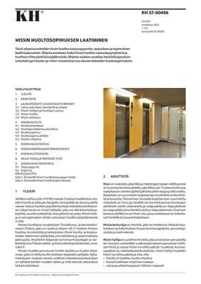 KH 57-00496, Hissin huoltosopimuksen laatiminen
