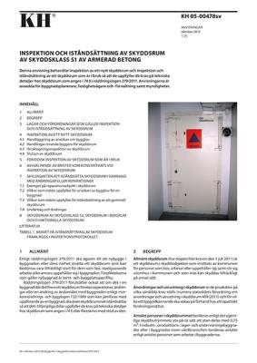 KH 05-00478 sv, Inspektion och iståndsättning av skyddsrum av skyddsklass S1 av armerad betong