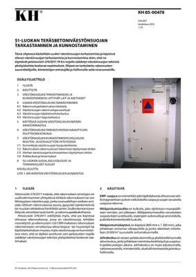 KH 05-00478, S1-luokan teräsbetoniväestönsuojan tarkastaminen ja kunnostaminen
