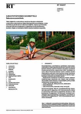 RT 103217, Ilmastotietoinen suunnittelu. Rakennussuunnittelu
