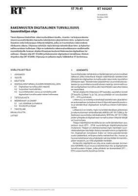 RT 103207, Rakennusten digitaalinen turvallisuus. Suunnittelijan ohje