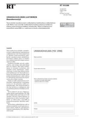 RT 103288, Urakkaohjelman laatiminen. Maarakennustyö (YSE 1998 asiakirjamalli)