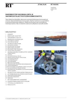 RT 103310, Rakennusten savunhallinta ja savunpoistolaitteistojen kunnossapito