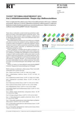RT 10-11208, Yleiset tietomallivaatimukset 2012. Osa 3. Arkkitehtisuunnittelu. Tilaajan ohje. Mallinnustarkkuus
