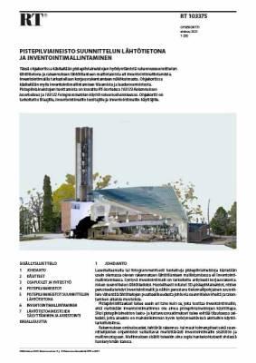 RT 103375, Pistepilviaineisto suunnittelun lähtötietona ja inventointimallintaminen